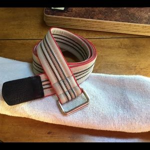 Burberry Nylon/Leather Belt